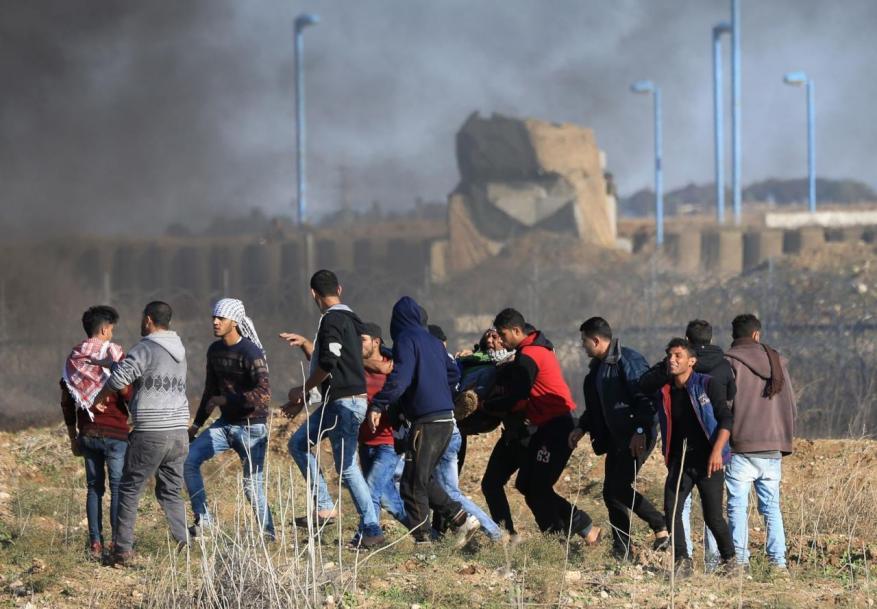 إصابة 6 مواطنين أحدههم بجراح خطيرة برصاص الاحتلال شرق المغازي