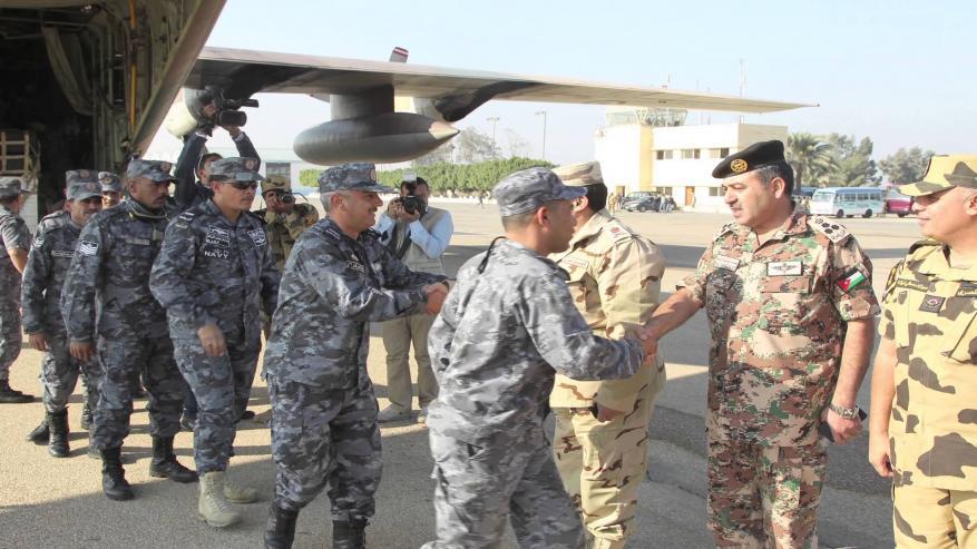 تدريبات عسكرية مصرية أردنية مشتركة