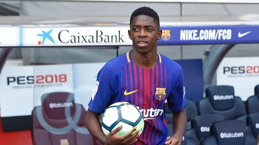 ديمبلي يثير مخاوف جماهير برشلونة