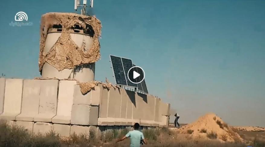 مشاهد حصرية تظهر مهاجمة الشبان الفلسطينيين لثكنة عسكرية شرق خانيونس