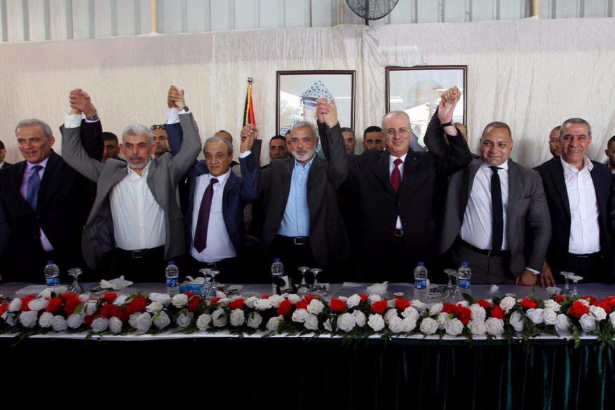 هنية يعلن التوصل لاتفاق المصالحة بين حماس وفتح بالقاهرة