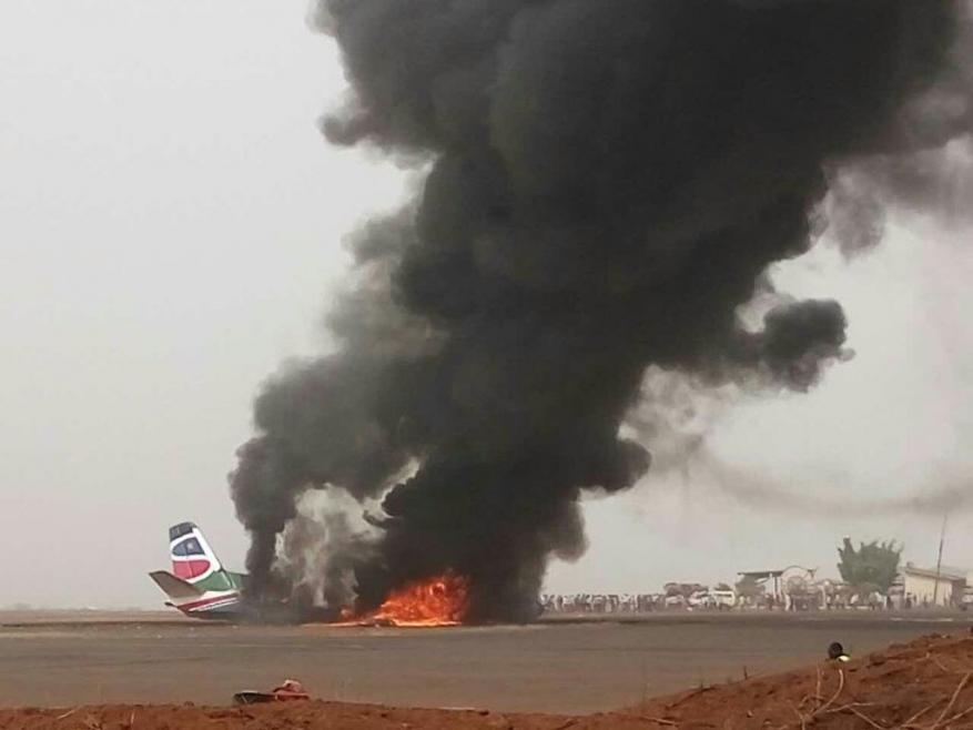 تحطّم طائرة ركاب في جنوب السودان تحمل 45 شخصاً