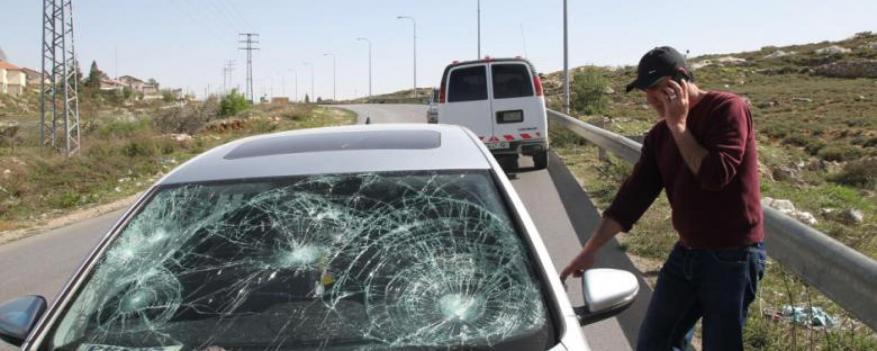 Extremist Colonists Stone Cars Near Jenin