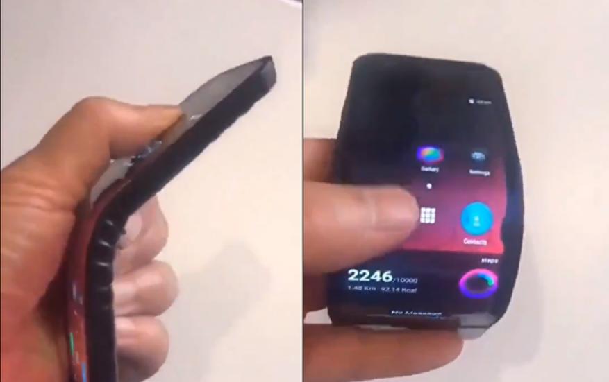 """شاهد: شركة """"لينوفو"""" تقدم ثورة في عالم الهواتف.. هاتف قابل للطي"""