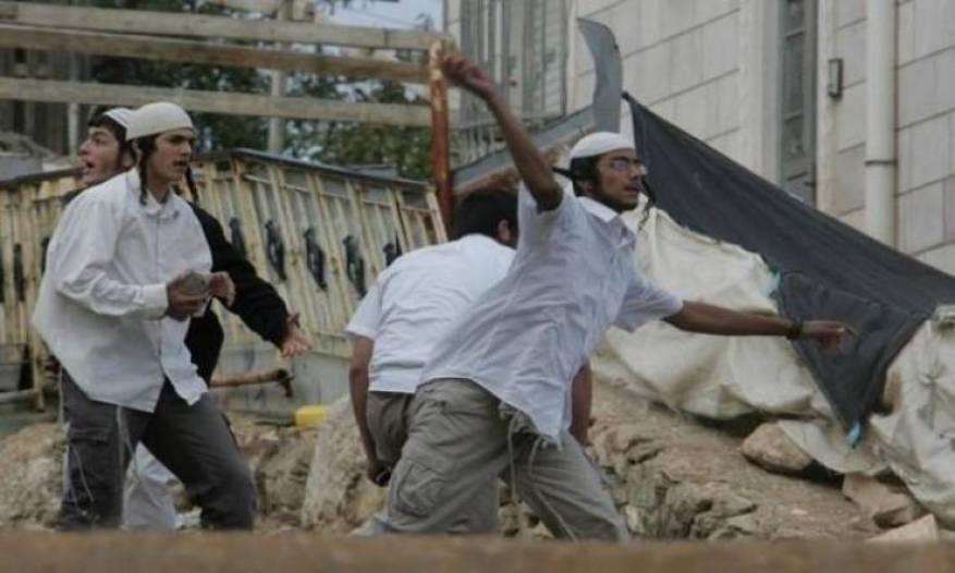 مستوطنون يهاجمون مدرسة بورين جنوب نابلس
