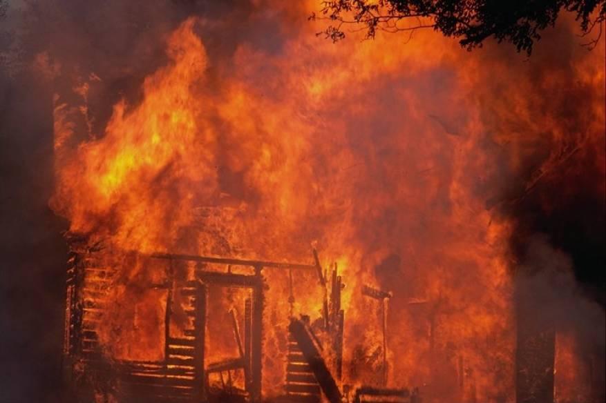 حريق بمول الأندلسية غرب غزة