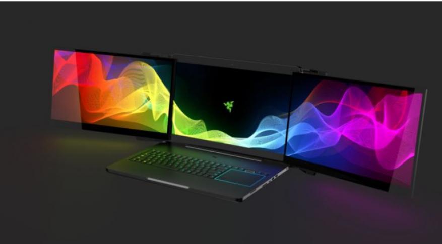 """""""Razer"""" تعلن عن حاسب محمول بثلاث شاشات"""