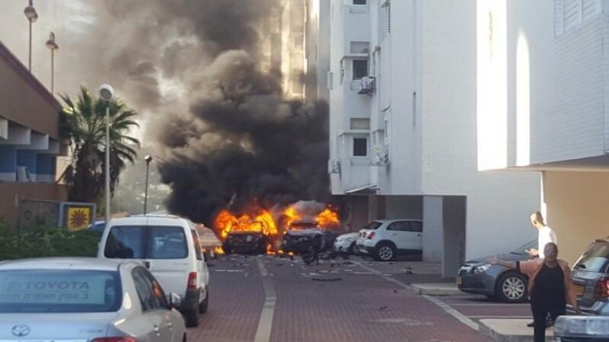 انفجار سيارتين في اسدود المحتلة