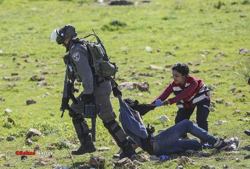 إصابات إحداها خطيرة خلال مواجهات مع الاحتلال شمال البيرة