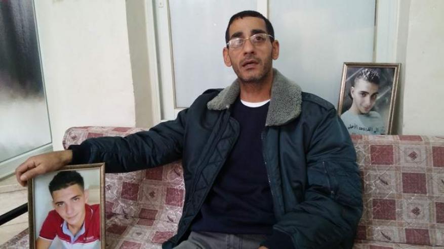 """الاحتلال يتهم والد الشهيد أبو غزالة """"بالتحريض على العنف""""!"""