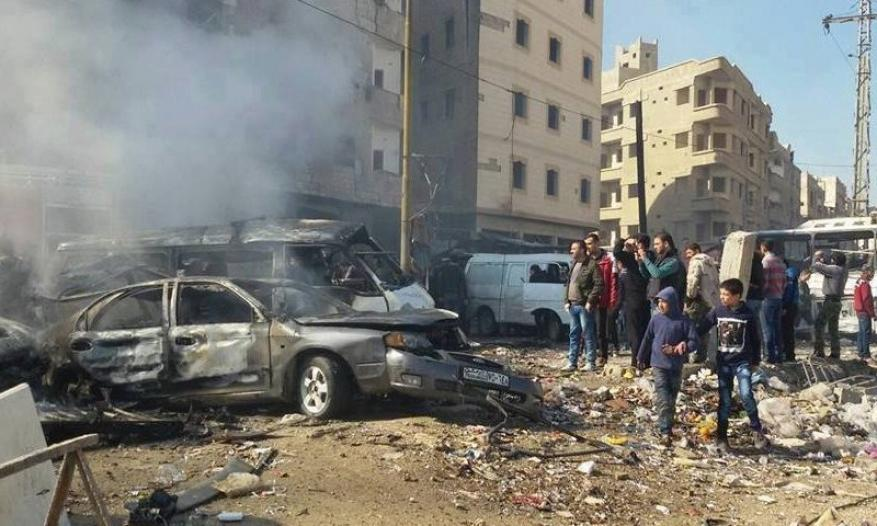قتيلان وجرحى بتفجير قرب مركز قيادة شرطة دمشق (صور وفيديو)