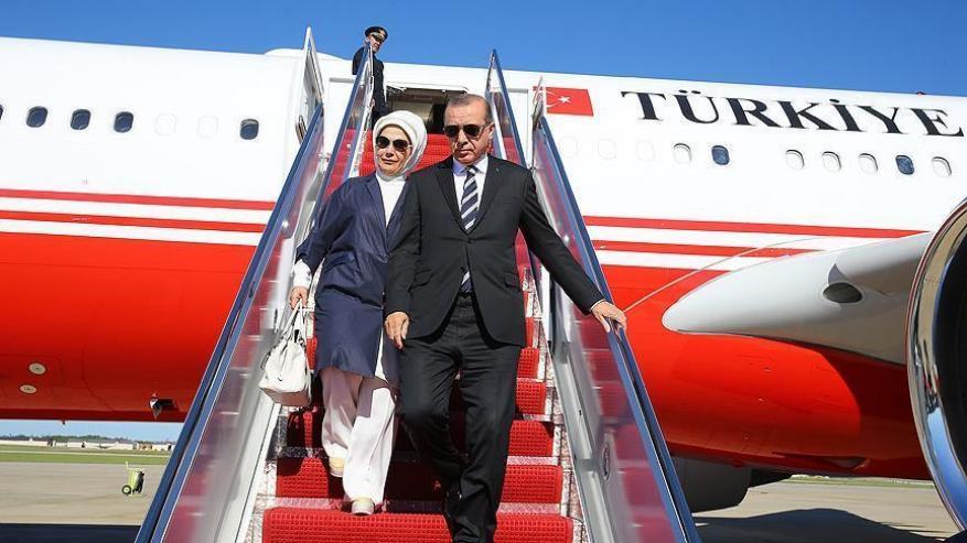أردوغان يصل الولايات المتحدة للقاء ترامب