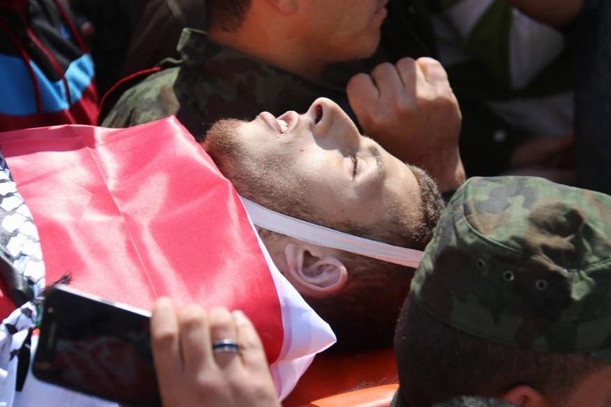 تشييع جثمان الشهيد عُمير شحادة في نابلس