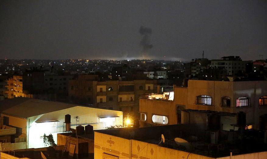 مراسل شهاب: غارات إسرائيلية على مواقع للمقاومة في قطاع غزة
