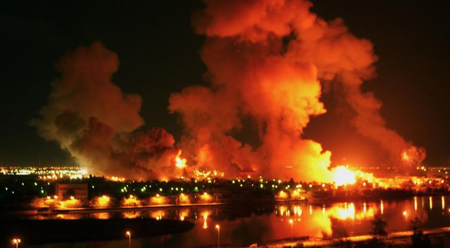 """70 """"قنبلة نووية"""" ألقتها الطائرات الأميركية على العراق خلال 20 يوماً"""