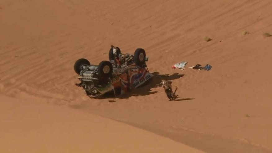 تحطم شاحنة هولندية في  سباق رالي داكار