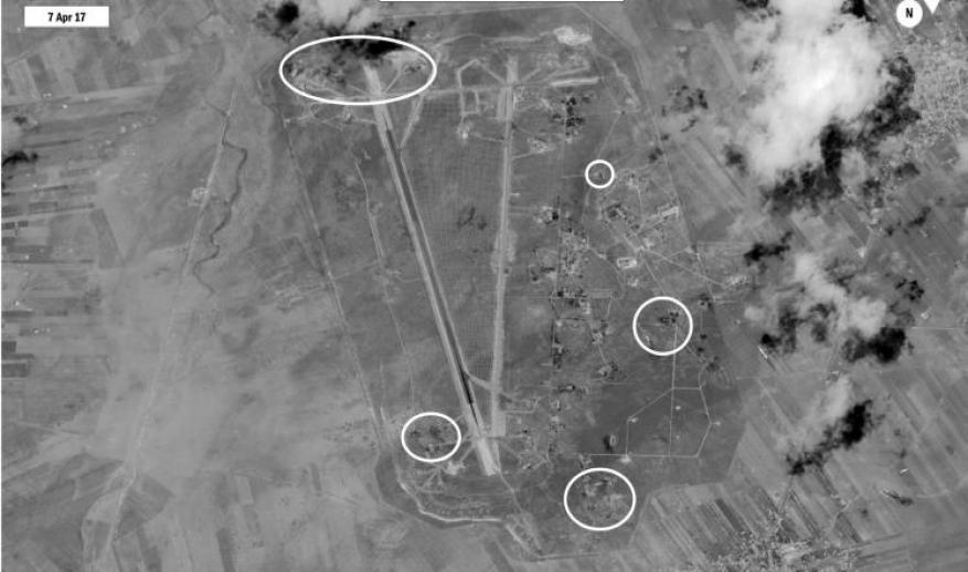 هجوم صاروخي على مطار الشعيرات بحمص والنظام يعلن إسقاط الصواريخ
