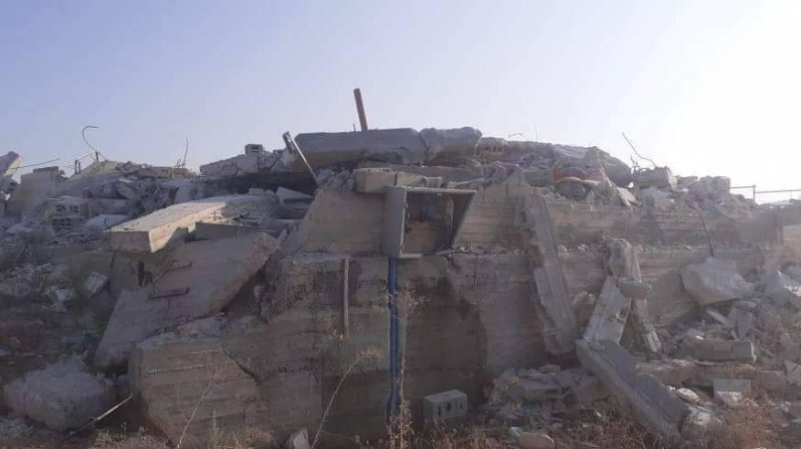 الاحتلال يهدم قاعة أفراح في خربة جبارة جنوب طولكرم