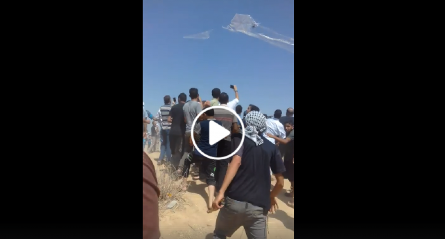 مشهد مؤثر.. فرحة طفل فلسطيني عند إسقاط طائرة للاحتلال شرق غزة