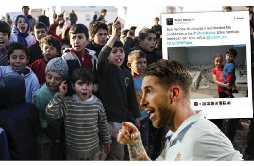 بعد رونالدو.. راموس يتضامن مع أطفال سوريا وهذا ما قاله