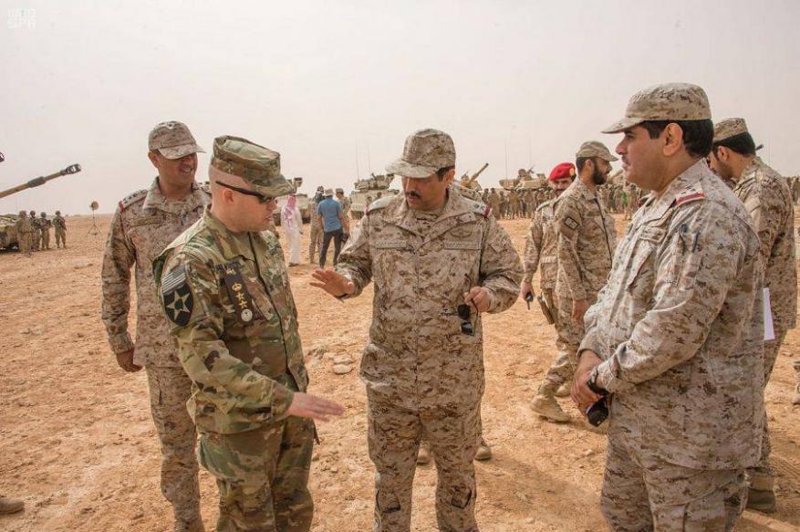 مناورات سعودية أمريكية عسكرية مشتركة